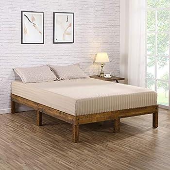 Amazon Com Mellow 12 Quot Classic Soild Wood Platform Bed