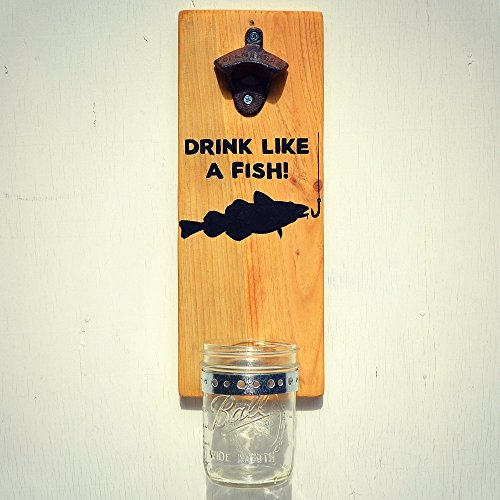 fish wall mount bottle opener - 5