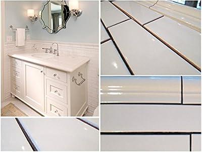 """White Porcelain Subway Tile Gloss Finish 2"""" X 8 1/2"""" (Box of 10 Sqft), Wall Tile, Backsplash Tile, Bathroom Tile, Vogue Brand Designed in Italy"""
