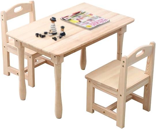 Ensemble Table Et Chaises Pour Enfants En Bois Massif Bureau D