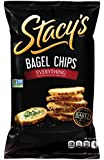 Stacy's Bagel Chips, Everything (Onion, Sesame, Poppy & Garlic), 8-Ounce Bags (Pack of 12)