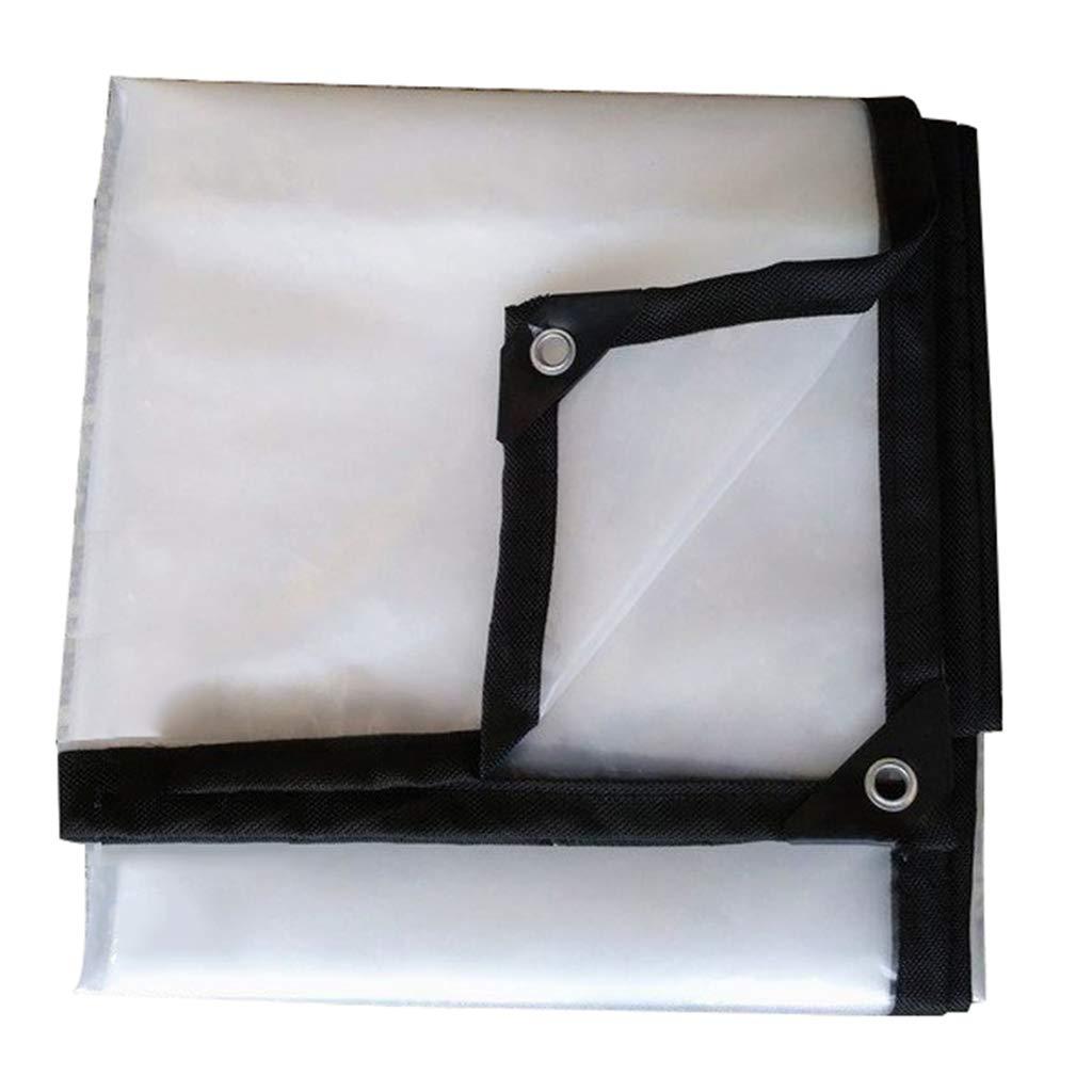 HUYYC 透明防水タープヘビーデューティーアウトドア - クリアタープグロメット付きマルチサイズ温室効果防水シート,4x8m/12x24ft B07LB3T4ZX  4x8m/12x24ft