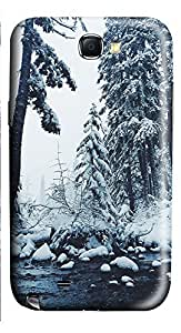 Samsung Note 2 Case landscapes nature snow 6 3D Custom Samsung Note 2 Case Cover