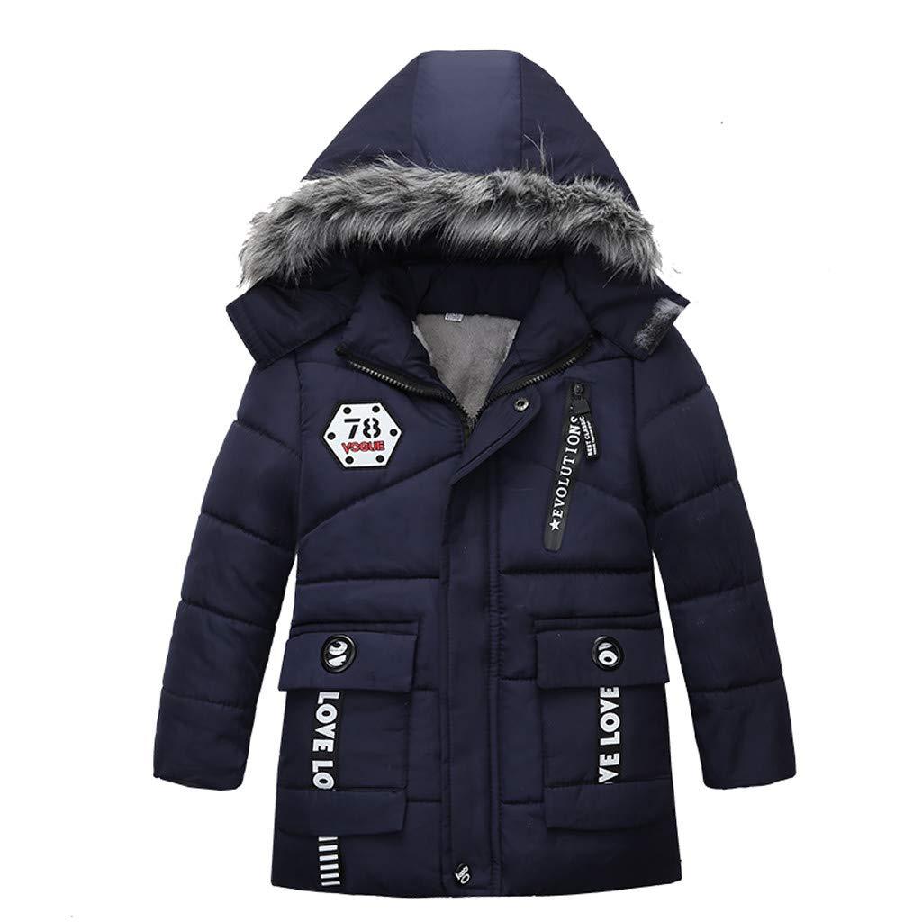 Sannysis Wintermantel Baby Kinder 1-4 Jahre alt Jungen Steppjacke mit Kapuze Winter Oberbekleidung Mantel Dicke Kinderjacke Winterjacke Warme Geg/ütterte Kapuzenjacke