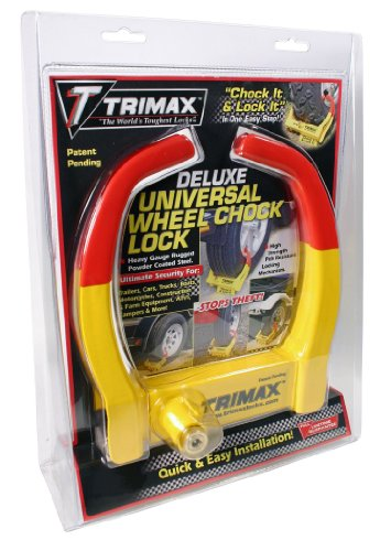 Trimax TCL275 Medium Deluxe Keyed Alike Wheel Chock Lock, (Pack of 2) by Trimax (Image #1)