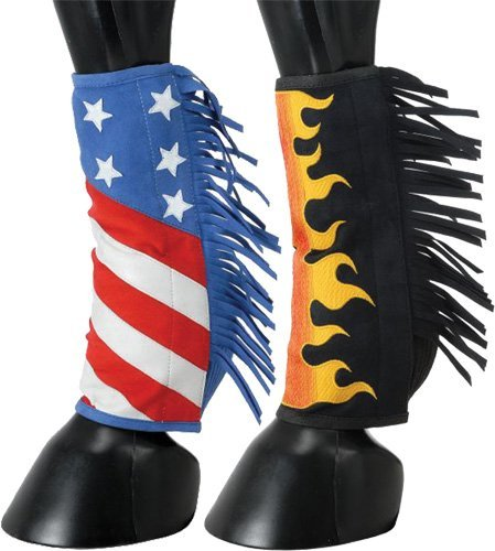 Tough-1 Sport Boot Covers w/Fringe Patriotic by Tough-1