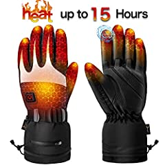 Heated Gloves for Men Women - Electric Heating Gloves, Heated Motorcycle Gloves Battery Rechargeable for Winter Sports