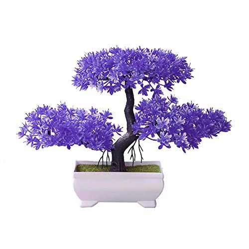 dezirZJjx Artificial Plants Welcoming Pine Bonsai Simulation Artificial Potted Plant Ornament Home Decor - ()