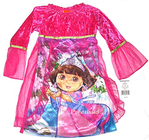 Explorer Nightgown - Dora the Explorer ~Snow Princess LACE Ruffle Gown~ Girls SZ 6