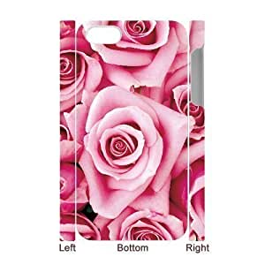 3D Bumper Plastic Case Of Colorful Rose customized case For iPhone 5 5s