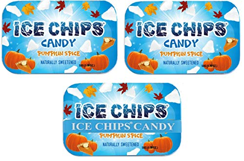 ICE CHIPS Xylitol Candy Tins (Pumpkin Spice, 3