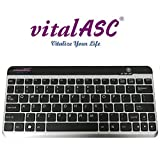 Wireless Ultra Slim Bluetooth Keyboard for iPad, iPhone, Android, Windows ,Compact Rechargeable, Black (KB10KA-S)