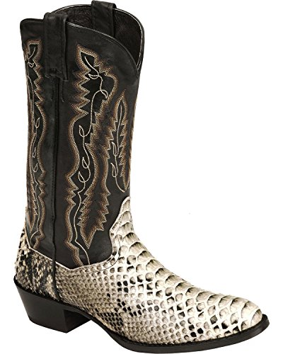 Dan Post Python Mens Boots (Dan Post Men's Omaha Python Cowboy Boot Round Toe Natural 10.5 D(M))