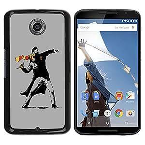 Planetar® ( Street Art Rebel ) Motorola NEXUS 6 / Moto X / Moto X Pro Fundas Cover Cubre Hard Case Cover
