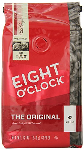 Eight O'Clock Whole Bean Coffee, The Original, 12 Ounce (Pack of 6)