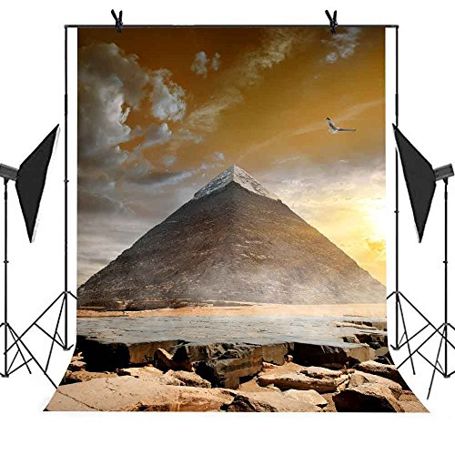 Pyramid Backdrop MEETSIOY 5x7ft Egypt Building Photography Background Themed Party Photo Booth YouTube Backdrop MT439