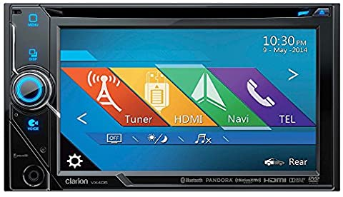 Clarion VX405 2-Din DVD Multimedia Station with 6-Inch Touch Panel Control (Clarion Android)