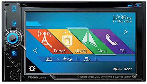 Clarion VX405 2-Din DVD Multimedia Station with 6-Inch Touch Panel Control Clarion Car Stereo