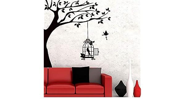 yiyiyaya Un pájaro con Llave y Jaula Colgando en la Rama de árbol ...