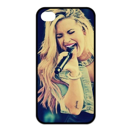 Fayruz- Demi Lovato Protective Hard TPU Rubber Cover Case for iPhone 4 / 4S Phone Cases A-i4K59
