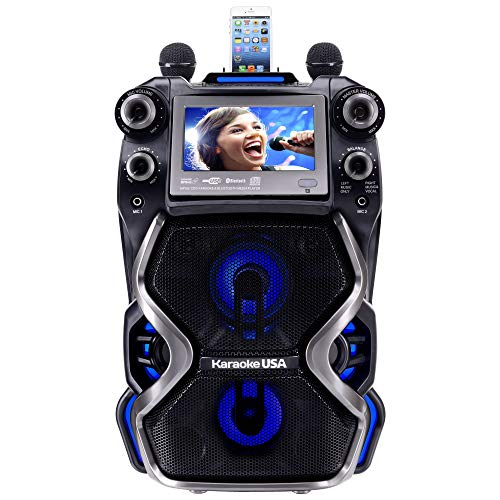 - Karaoke USA GF920 Outdoor Portable Professional Bluetooth Karaoke Machine and PA System with Rechargeable Lithium Battery