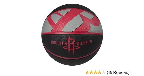 Amazon Spalding NBA Houston Rockets Courtside Rubber Basketball Sports Fan Basketballs Outdoors