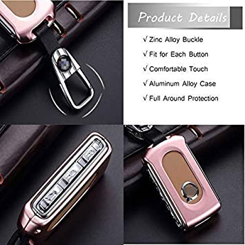 Kwaks Car Key Cover Case Holder Key Cover Case for 18 Volvo XC90 XC60 S90 V90 Car Accessories Black