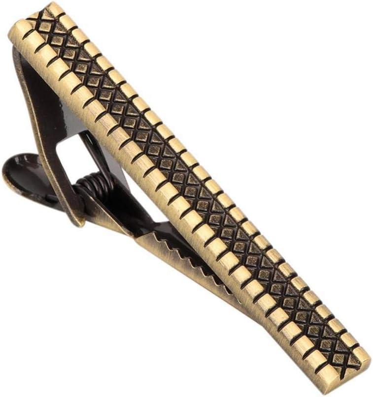 CCJIAC Clip de Corbata de Metal Simple para Hombres Alfiler de ...