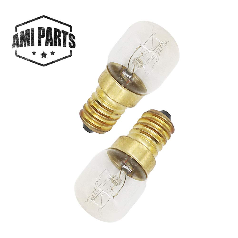 AMI PARTS 4173175 Oven Light 15w 130v Bulb Replacement Part Compatible with Whirlpool, KitchenAid, Maytag Oven(2pcs)