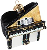 Old World Christmas Musical Instruments Glass Blown Ornaments for Christmas Tree Baby Grand Piano