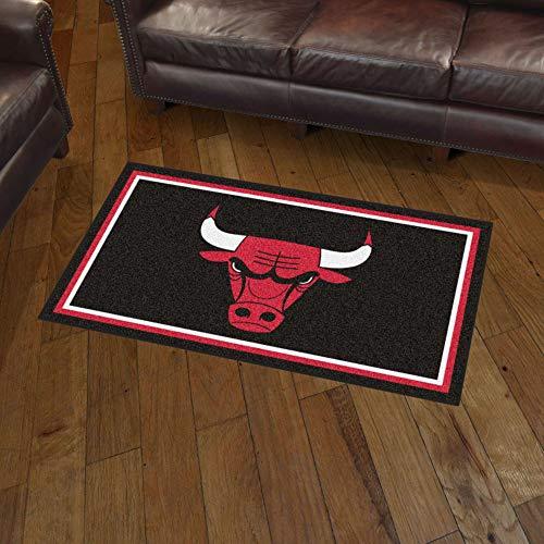 NBA Chicago Bulls 3 Ft. x 5 Ft. Area RUG3 Ft. x 5 Ft. Area Rug, Black, 3' x 5'