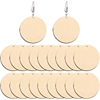 TOYANDONA 50pcs Natural Unfinished Blank Earring Pendant Geometric Shaped Wooden Dangle Earring Charms For DIY Jewelry Bracelet Necklace Earring