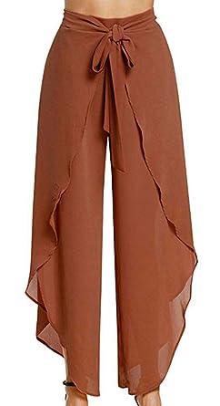 Mujer Pierna Ancha Informales Fashion Pantalones Yoga ...