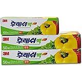3M 食品保鲜袋 立体袋型 韩国原装进口 未添加塑化剂 抽取式盒装 组合装(大号2包+小号1包)(2款包装随机发货)