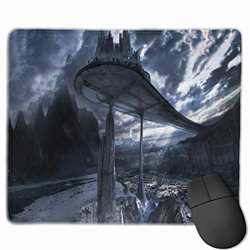 Castle Air Quality Comfortable Game Base Mouse Pad with Stitched Edges Size 11.81 9.84 Inch