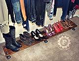 64'' Shoe Rack, Closet Organizing, Steampunk Decor, Industrial Decor, Home Decor, Store Decor, Boutique Decor, Closet Organizer, Pipe Shelf
