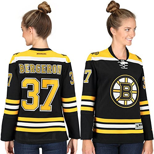 37 Patrice Bergeron Boston Bruins Home Women's Premier Jersey Black color Size S