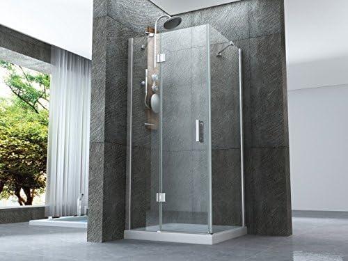 Box ducha con puerta batiente externo y lado fijo de cristal 8 mm ...