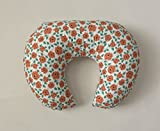 Nursing Pillow Cover - Coral Dot Flowers