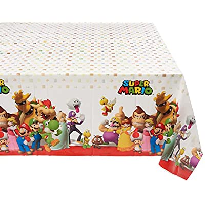 Super Mario Brothers Plastic Table Cover, Party Favor: Toys & Games