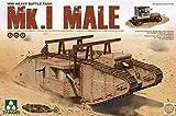 Takom 1:35 WWI Heavy Battle Tank Mk.I Male - Plastic Model Kit #2031