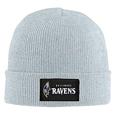 Amone Baltimore Raven Winter Knitting Wool Warm Hat Ash