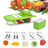 TAPCET Mandoline Slicer With 5 Thickness Settings Interchangeable...