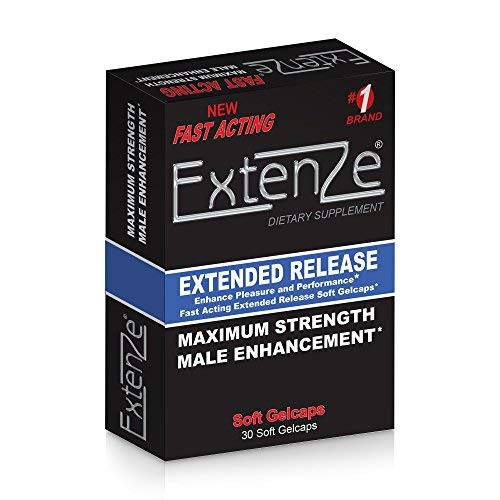 - Extenze Maximum Strength Male Enhancement Nutritional Supplement Liquid Gelcaps 30 Gelcaps