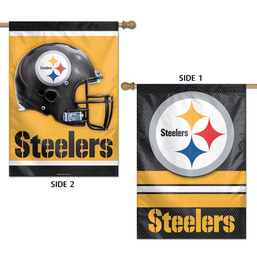 WinCraft NFL Pittsburgh Steelers 2 Sided Vertical Flag, 28 x 40