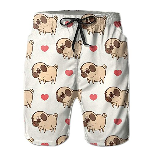 RAVIS Funny Pug Puppy Dog Man Leisure Funny Casual Pants XL