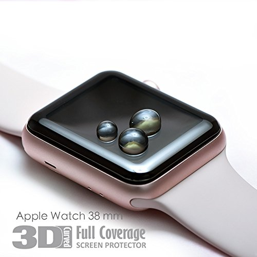 hoda [38mm] Glass Screen Protector for Apple Watch Series 3/2/1 [3D Full Coverage] Black by HODA (Image #3)