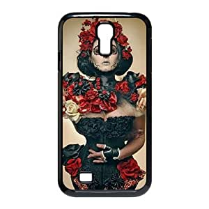 J-LV-F Customized Sugar Skull Pattern Protective Case Cover Skin for Samsung Galaxy S4 I9500