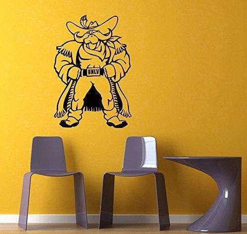 l Sticker Gym Sports Logo Emblem UNLV Runnin' Rebels DA3082 (Unlv Runnin Rebels Car)