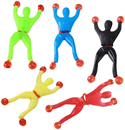 Sticky Wall Climbing Flip Rolling Men Climber Spider man Kids Toy Favors Party